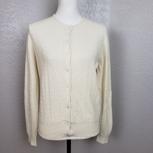LRL Wool Cashmere Cardigan Sweater Size Medium